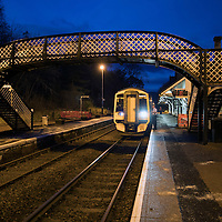The 07.39 to Edinburgh pictured at ScotRail's Dunkeld & Birnam railway station…01.12.16<br />Picture by Graeme Hart.<br />Copyright Perthshire Picture Agency<br />Tel: 01738 623350  Mobile: 07990 594431
