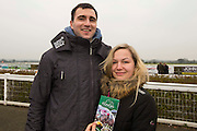 Navan Races, Saturday 27th February 2016.<br /> Pictured at Navan Races, Jakub Wasiak & Agnieszka Spik (Navan)<br /> Photo: David Mullen /www.cyberimages.net / 2016