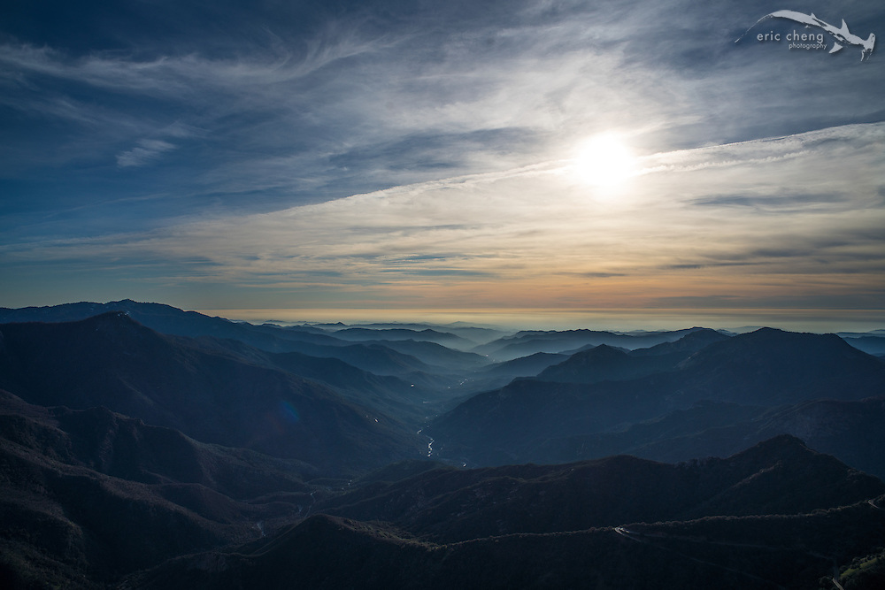 Amazing view from Moro Rock. Sequoia National Park, California.