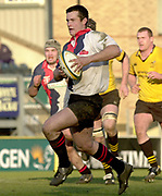 29/02/2004  -  Powergen  Cup - London Wasps v Pertemps Bees.Bees Shaun Woof on the attack.    [Mandatory Credit, Peter Spurier/ Intersport Images].