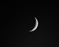 Waxing Crescent Moon (16%). Image taken with a Fuji X-H1 camera and 200 mm f/2 lens with 1.4x teleconverter