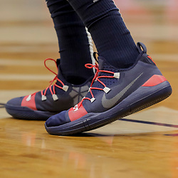 Dec 12, 2018; New Orleans, LA, USA; Shoes worn by New Orleans Pelicans forward Anthony Davis during the first quarter against the Oklahoma City Thunder at the Smoothie King Center. Mandatory Credit: Derick E. Hingle-USA TODAY Sports