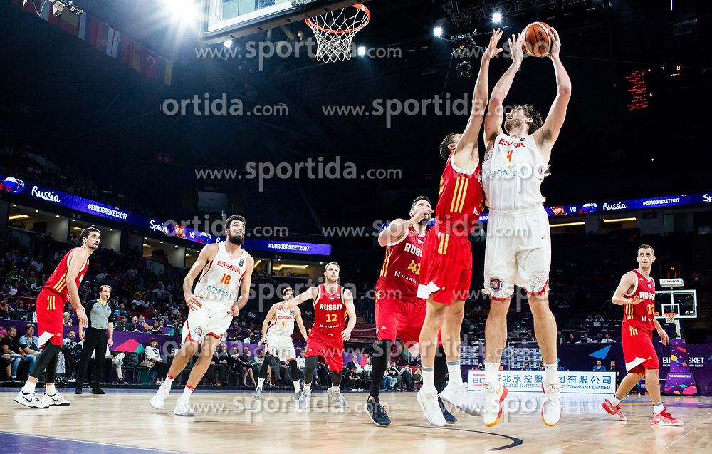 Pau Gasol of Spain during basketball match between National Teams  Spain and Russia at Day 18 in 3rd place match of the FIBA EuroBasket 2017 at Sinan Erdem Dome in Istanbul, Turkey on September 17, 2017. Photo by Vid Ponikvar / Sportida