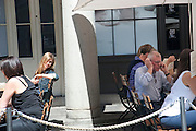 RACHEL SULLIVAN; THE TARGET MR. LANCASTER, A group of journalists learning how to do covert surveillance with Cameron Addicott author of THE INTERCEPTOR. They tracked a 'target in central London. Thursday June 3rd 2010<br />  <br />  -DO NOT ARCHIVE-© Copyright Photograph by Dafydd Jones. 248 Clapham Rd. London SW9 0PZ. Tel 0207 820 0771. www.dafjones.com