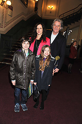 SIR PAUL SMITH, his daughter in law STEPHANIE SMITH and her children ZANY & POPPY attend the premier of 2012 Cirque du Soleil's Totem at the Royal Albert Hall, London on 5th January 2012,