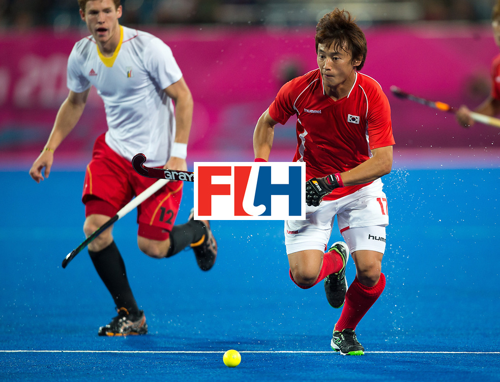 London Olympics 03/08/2012.Mens Hockey, Belgium v Korea.Eun Seong Hong of korea..Photo: Grant Treeby
