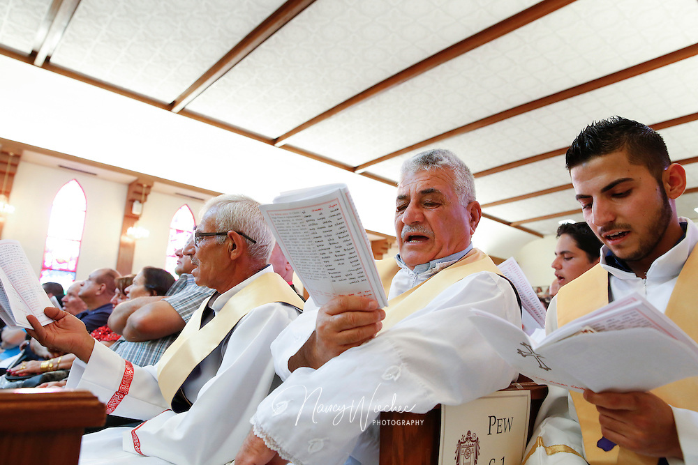 Chaldeans sing during a Mass of ordination at St. Peter Chaldean Catholic Cathedral in El Cajon, Calif., Aug. 14, 2015. (Nancy Wiechec for ONE magazine)