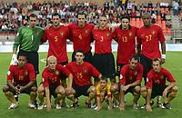 Fotball<br /> Belgia<br /> EM-kvalifisering<br /> Belgia v Kasakhstan<br /> 16.08.2006<br /> Foto: PhotoNews/Digitalsport<br /> NORWAY ONLY<br /> <br /> Lagbilde Belgia - stand  row from left to right - stijn stijnen - jelle van damme - daniel van buyten - timmy simons - carl hoefkens - vincent kompany<br /> moussa dembele - karel geraerts - thomas vermaelen - bart goor - thomas buffel