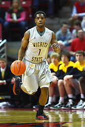 22 February 2012:  Joe Ragland looks on during an NCAA Missouri Valley Conference mens basketball game between the Wichita State Shockers and the Illinois State Redbirds in Redbird Arena, Normal IL