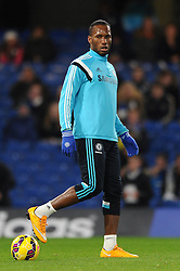 Chelsea's Didier Drogba is the only change in the starting 11 who comes in to replace the suspended Chelsea's Diego Costa - Photo mandatory by-line: Dougie Allward/JMP - Mobile: 07966 386802 - 03/12/2014 - SPORT - Football - London - Stamford Bridge - Chelsea v Tottenham Hotspur - Barclays Premier League