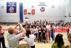 Fans take photos of USA Select players after they claim a narrow overtime victory - Mandatory byline: Rogan Thomson/JMP - 07966 386802 - 10/09/2015 - BASKETBALL - SGS Wise Arena - Bristol, England - Bristol Flyers v USA Select.