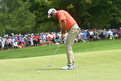 August 12, 2018 - St. Louis, Missouri, U.S. - ST. LOUIS, MO - AUGUST 12: Stewart Cinc putts on the #1 green during the final round of the PGA Championship on August 12, 2018, at Bellerive Country Club, St. Louis, MO.  (Photo by Keith Gillett/Icon Sportswire) (Credit Image: © Keith Gillett/Icon SMI via ZUMA Press)