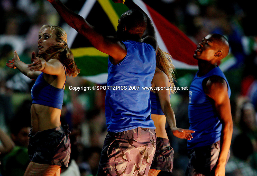 T 20 dancers celebrating. South Africa v New Zealand. International cricket Pro20 match held at the the Wanderers Stadium, Johannesburg, South Africa. Friday 23 November 2007. Photo: Barry Aldworth/SPORTZPICS/PHOTOSPORT