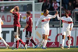 22.10.2011, easy Credit Stadion, Nuernberg, GER, 1.FBL, 1. FC Nürnberg / Nuernberg vs VfB Stuttgart, im Bild:.Entruestung bei Nuernberg, Freude ueber Elfmeter bei Stuttgart.// during the Match GER, 1.FBL, 1. FC Nürnberg / Nuernberg vs VfB Stuttgart on 2011/10/22, easy Credit Stadion, Nuernberg, Germany..EXPA Pictures © 2011, PhotoCredit: EXPA/ nph/  Will       ****** out of GER / CRO  / BEL ******