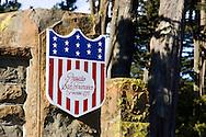 Presido entrance sign and brick eagle emblem - San Francisco, California