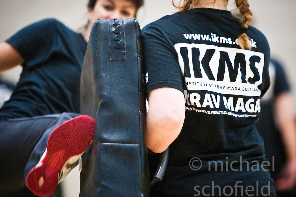 IKMS Pre Grading Workshop October 2012. The Institute of Krav Maga Scotland (IKMS) held a Pre Grading Krav Maga Workshop at St Modans High School, Stirling. The KMG National Krav Maga Grading will take place on October 27th at the same venue..©Michael Schofield.