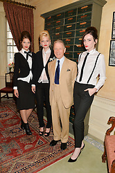 EDWARD FOX and models at The House of Britannia reception hosted by Lady Delves Broughton at 42 Berkeley Square, London on 26th June 2014.