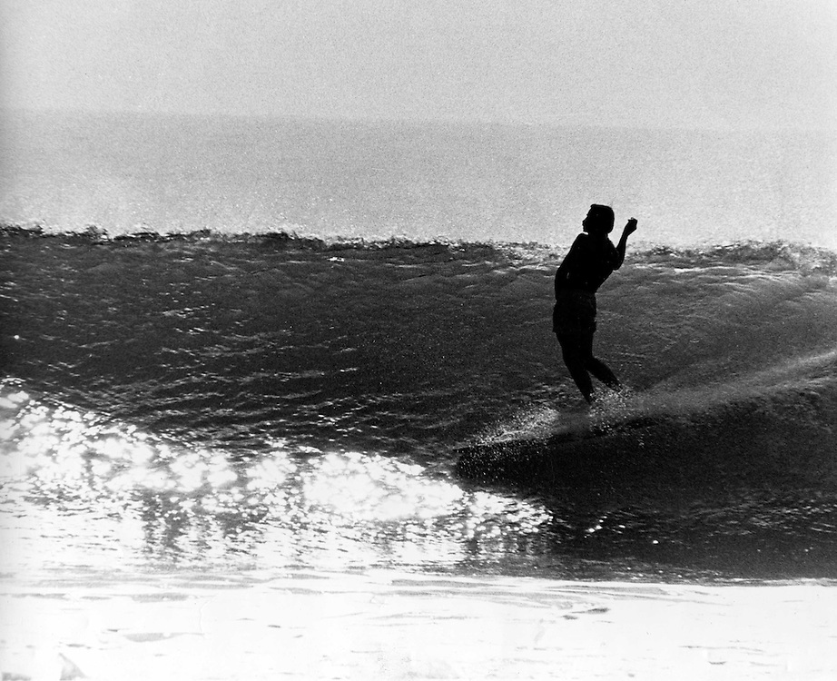 Eric Arneson at Rincon during the fall of 1965, Eric was my one of my roommates and we managed to get many days like this together at Rincon. Unlike today you really had to go check the surf to see if your hunch was right, keep the crowds down when swells would first hit.