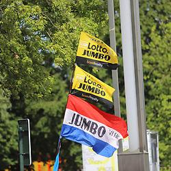 07-07-2019: Wielrennen: Tour de France: Brussel<br />Jumbo-Visma wint de ploegentijdrit en Mike Teunissen steviger in de gele trui