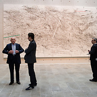 VENICE, ITALY April 8th: Francois Pinault poses in front of work of Artist Julie Mehretu at the opening of the Exhibition In Praise of Doubt at Punta della Dogana  organised by the Francois Pinault Foundation ...HOW TO BUY THIS PICTURE: please contact us via e-mail at sales@xianpix.com or call our offices in Milan at (+39) 02 400 47313 or London   +44 (0)207 1939846 for prices and terms of copyright.