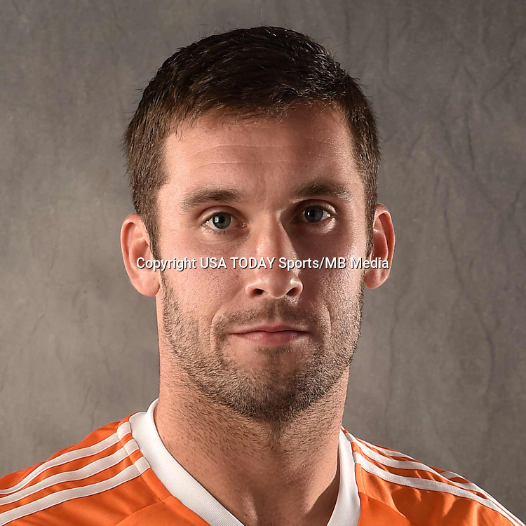 Feb 25, 2016; USA; Houston Dynamo player Will Bruin poses for a photo. Mandatory Credit: USA TODAY Sports