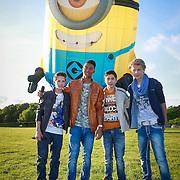 NLD/Loosdrecht/20130603 - Presentatie single jongensgroep Mainstreet voor Verschrikkelijke Ikke 2 , Daan Zwerink, Owen Playfair, Nils Kaller, Rein van Duivenboden