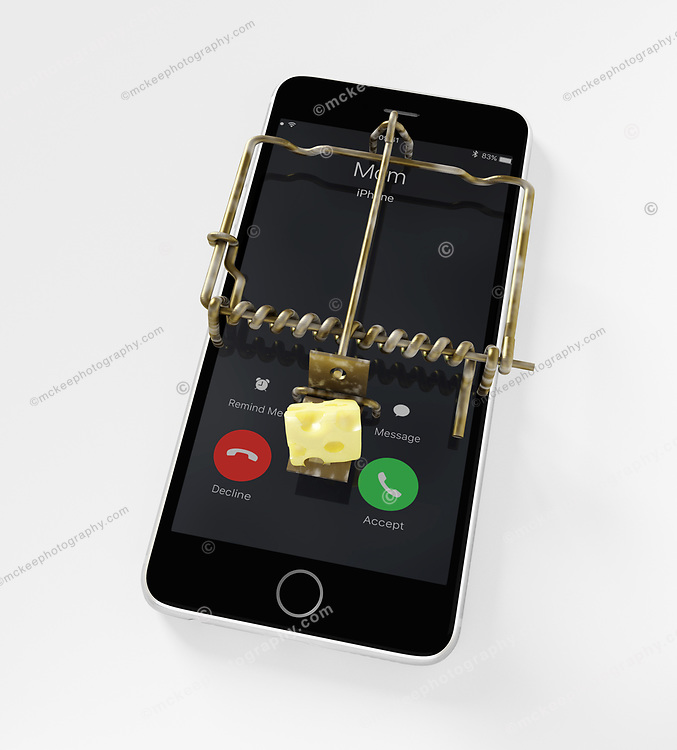 Mobile devices can be traps laid for the unwary. Distraction of mobile devices. Or, is this about robocalls now coming to mobile devices? Telemarketing is interupting our days and is now as bad as junk mail and spam!