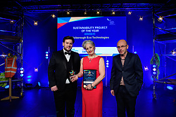 Sustainability Project of the Year, sponsored by Anglian Water.  Winner: Flixborough Eco Technologies.<br /> <br /> Greater Lincolnshire Construction and Property Awards 2018 organised by Lincolnshire Chamber of Commerce and held at The Engine Shed, Lincoln.<br /> <br /> Picture: Chris Vaughan Photography<br /> Date: February 6, 2018