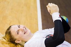 Tamara Mavsar during practice session of Slovenian Women handball National Team three days before match against Serbia, on October 24, 2013 in Arena Tivoli, Ljubljana, Slovenia. (Photo by Vid Ponikvar / Sportida)