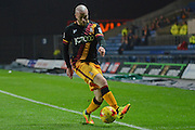 Bradford City midfielder Nicky Law (4) controls the ball 0-0 during the EFL Trophy match between Oxford United and Bradford City at the Kassam Stadium, Oxford, England on 31 January 2017. Photo by Alan Franklin.