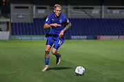 AFC Wimbledon midfielder Mitchell (Mitch) Pinnock (11) dribbling during the EFL Trophy (Leasing.com) match between AFC Wimbledon and U23 Brighton and Hove Albion at the Cherry Red Records Stadium, Kingston, England on 3 September 2019.