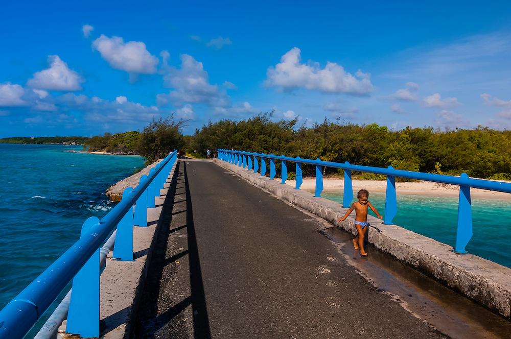 Mouli Bridge, Mouli, Island of Ouvea, Loyalty Islands, New Caledonia