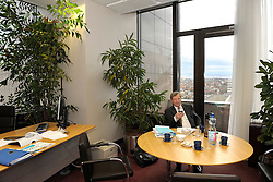 Jean-Claude Juncker, Luxembourg's prime minister, alone in the Luxembourg delegation office at the European Council headquarters in Brussels, Belgium, on Monday, Jan. 19, 2008. Juncker was waiting for a bilateral meeting with the Greek finance minister. (Photo / Jock Fistick).