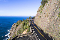 Highway 101 along the Oregon coast near Manzanita, Oregon.