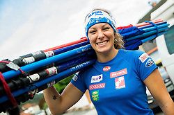 Ilka Stuhec at departure of Slovenian Women Ski Team to training camp in Argentina on August 5, 2014 in SZS, Ljubljana, Slovenia. Photo by Vid Ponikvar / Sportida.com