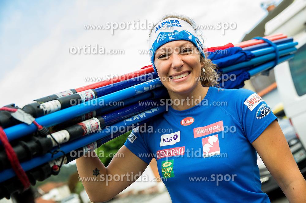 Ilka Stuhec at departure of Slovenian Women Ski Team to training camp in Argentina on August 5, 2014 in SZS, Ljubljana, Slovenia. Photo by Vid Ponikvar / Sportida.com