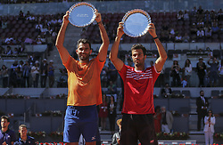 May 12, 2019 - Madrid, MADRID, SPAIN - Horia Tecau (ROU) and Jean-Julien Rojer (NED) during the Mutua Madrid Open 2019 (ATP Masters 1000 and WTA Premier) tenis tournament at Caja Magica in Madrid, Spain, on May 12, 2019. (Credit Image: © AFP7 via ZUMA Wire)