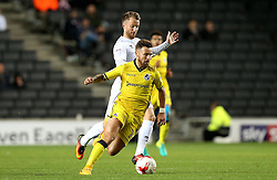 Matt Taylor of Bristol Rovers goes past Dean Bowditch of Milton Keynes Dons - Mandatory by-line: Robbie Stephenson/JMP - 18/10/2016 - FOOTBALL - Stadium MK - Milton Keynes, England - Milton Keynes Dons v Bristol Rovers - Sky Bet League One