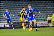 Goalscorer Callum Camps, Robbie Weir during the Sky Bet League 1 match between Rochdale and Burton Albion at Spotland, Rochdale, England on 30 January 2016. Photo by Daniel Youngs.