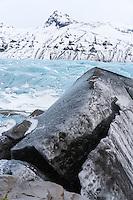 Svínafellsjökull outlet glacier in Southeast Iceland.
