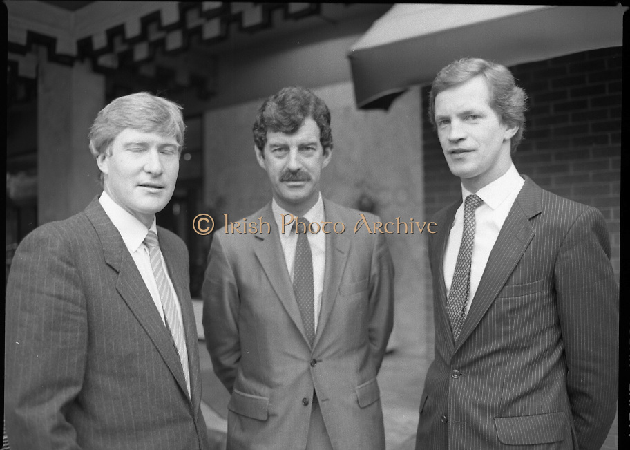 Dick Spring (TD) at Motor Company.15/06/1984