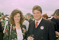 LORD & LADY APSLEY son of the Earl  Bathurst, at a polo match in Cirencester on 24th June 1997.<br /> LZP 6