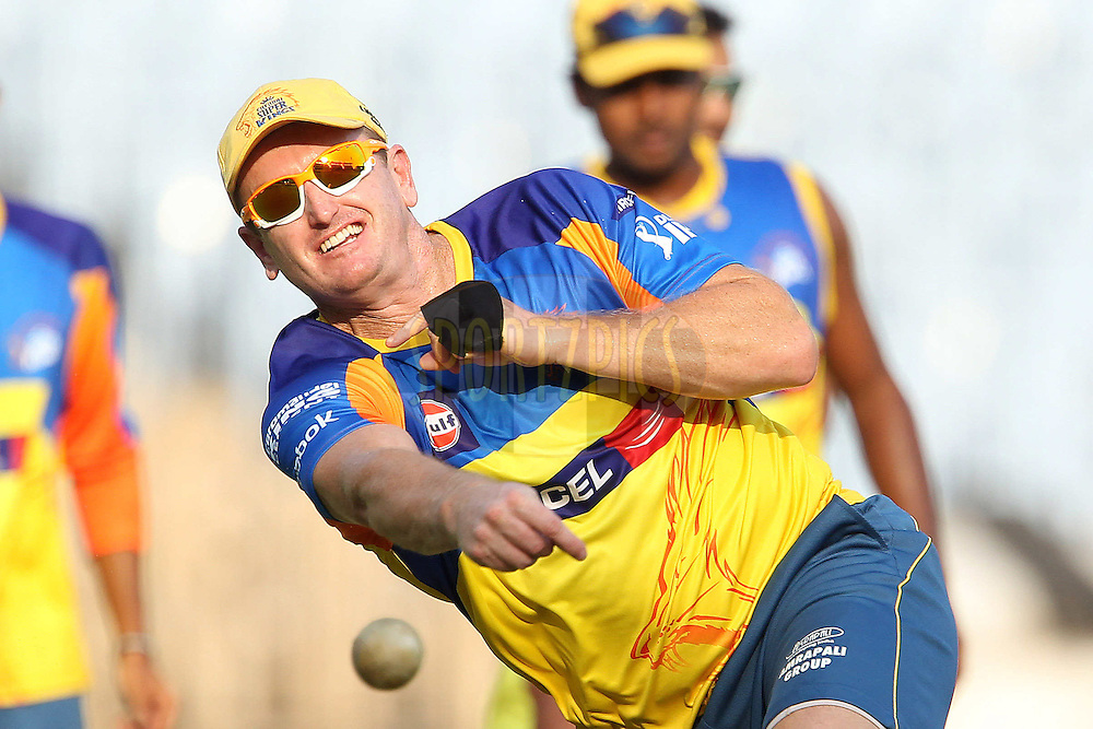 Scott Styris during the Chennai Superkings practice session held at the MA Chidambaram Stadium in Chennai, Tamil Nadu, India on the 15th April 2011..Photo by Ron Gaunt/BCCI/SPORTZPICS