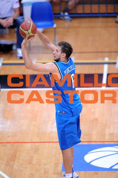 DESCRIZIONE : Trento Trentino Basket Cup Italia Polonia<br /> GIOCATORE : Stefano Mancinelli<br /> CATEGORIA : Tiro<br /> SQUADRA : Nazionale Italia Maschile<br /> EVENTO :  Trento Trentino Basket Cup<br /> GARA : Italia Polonia<br /> DATA : 09/08/2013<br /> SPORT : Pallacanestro<br /> AUTORE : Agenzia Ciamillo-Castoria/Max.Ceretti<br /> Galleria : FIP Nazionali 2013<br /> Fotonotizia : Trento Trentino Basket Cup Italia Israele<br /> Predefinita :
