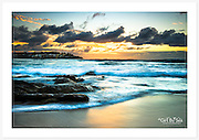 A glowing autumn sunrise at Bondi Beach, Sydney, Australia [Bondi, NSW]<br />