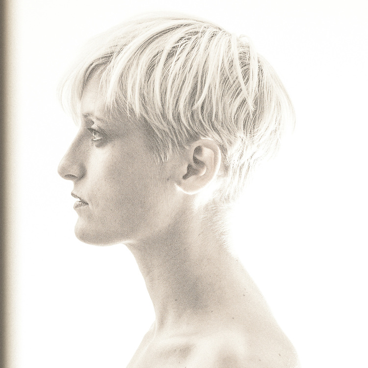 A sepia portrait of the talented Danish illustrator Pernille Ørum