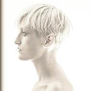 A sepia portrait of the talented Danish illustrator Pernille Ørum