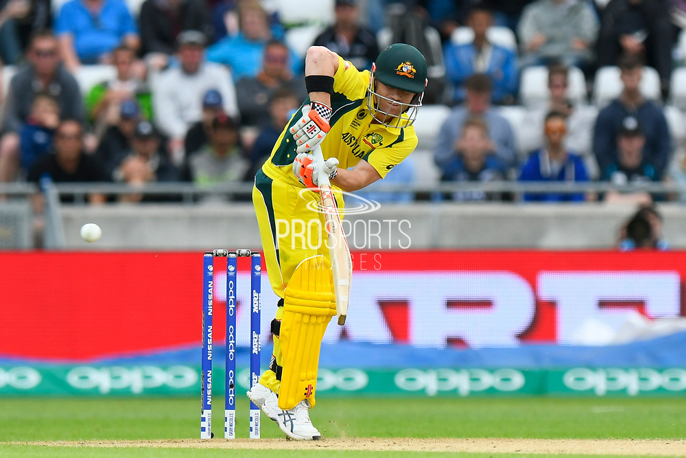 David Warner of Australia batting during the ICC Champions Trophy match between New Zealand and Australia at Edgbaston, Birmingham, United Kingdom on 2 June 2017. Photo by Graham Hunt.
