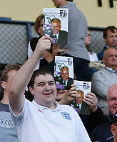 Photo: Steve Bond/Richard Lane Photography. Nottingham County v Nottigham Forest. Pre season Friendly. 25/07/2009. County fans with Sven-Goran Eriksson on the programme