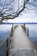 A landing stage on Lake Windermere, photographed at Brockhole - The Lake District Visitor Centre.